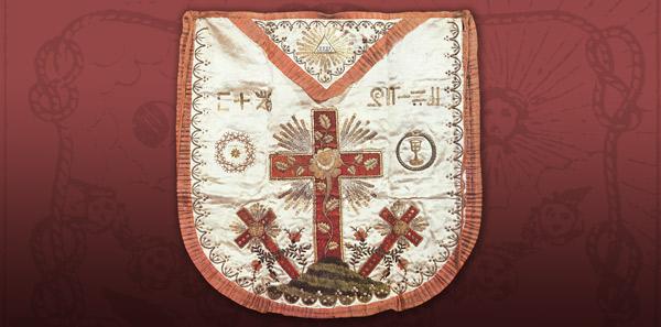 tablier grade rose croix