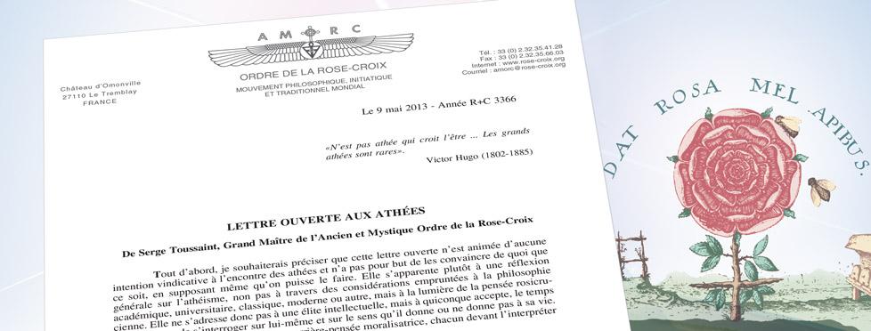 Lettre Ouverte Aux Athees Blog Rose Croix De Serge Toussaint