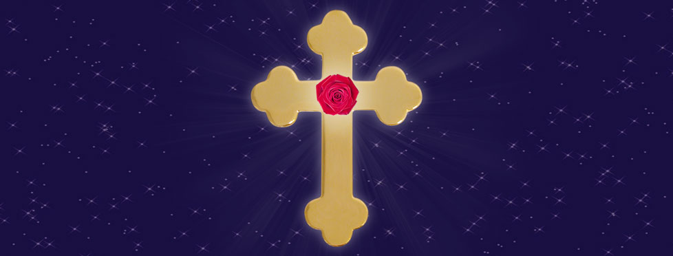 rose croix ciel