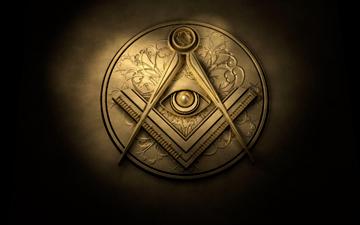 L'équerre et le compas, symbole de la Franc-Maçonnerie